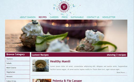 Food service web solutions