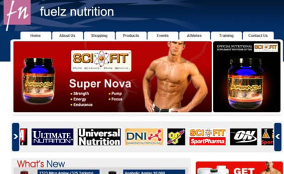 Nutrition and Gym Web development services