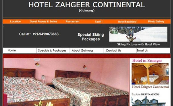 Hotel Wesite solution Kashmere