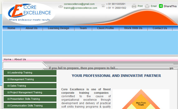 Core Excellence Website