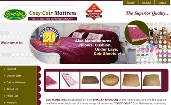 Cozycoir mattress Website