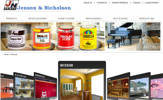 JN paints web Presence