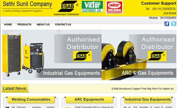 Website for Esab Distrib...