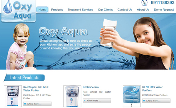 RO and Waterpurifier Website Design