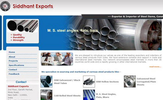 Siddhant Exports Website