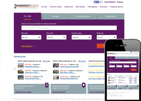 Website Design Template for real estate agents india and UAE