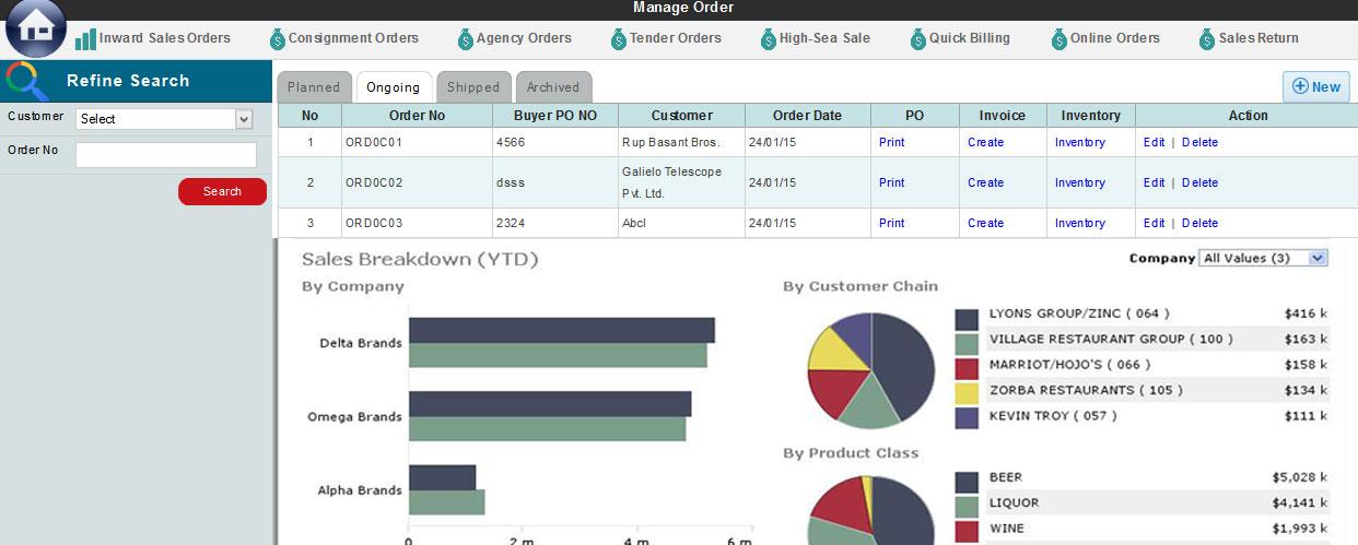 Billing Sales Order Processing Retail Billing Invoice