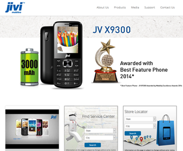 Mobile company website, Jivi Mobile official website