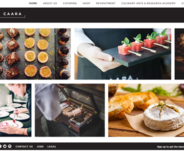Catering company web site services