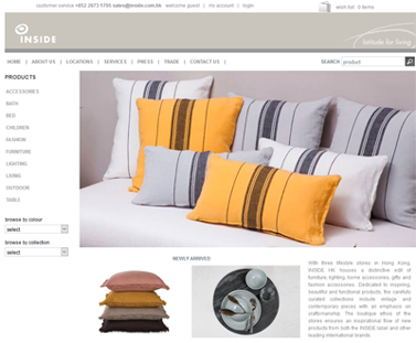 Ecommerce Solution for home furnishing company